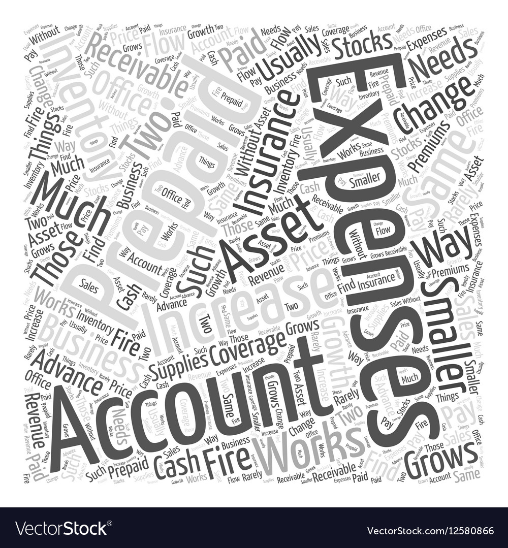 Inventory and expenses Word Cloud Concept vector image