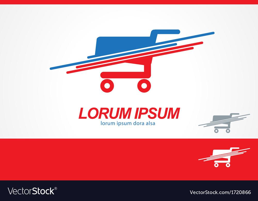 Shopping Cart logo icon template vector image