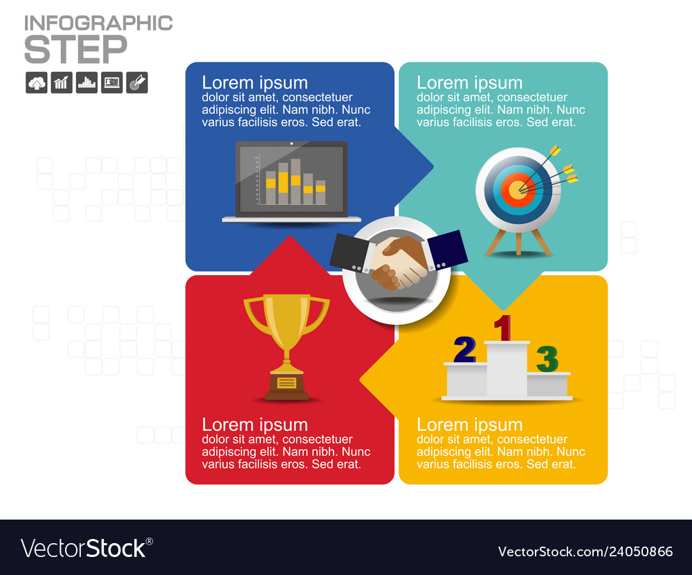 Step and timeline infographic templates for busine