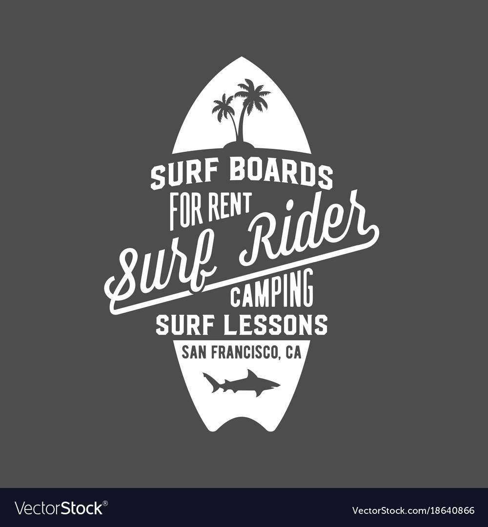 Vintage surfing label badge and emblems