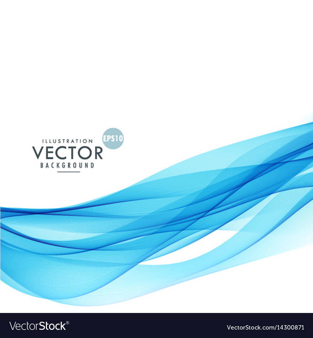 abstract blue wave lines background poster vector image