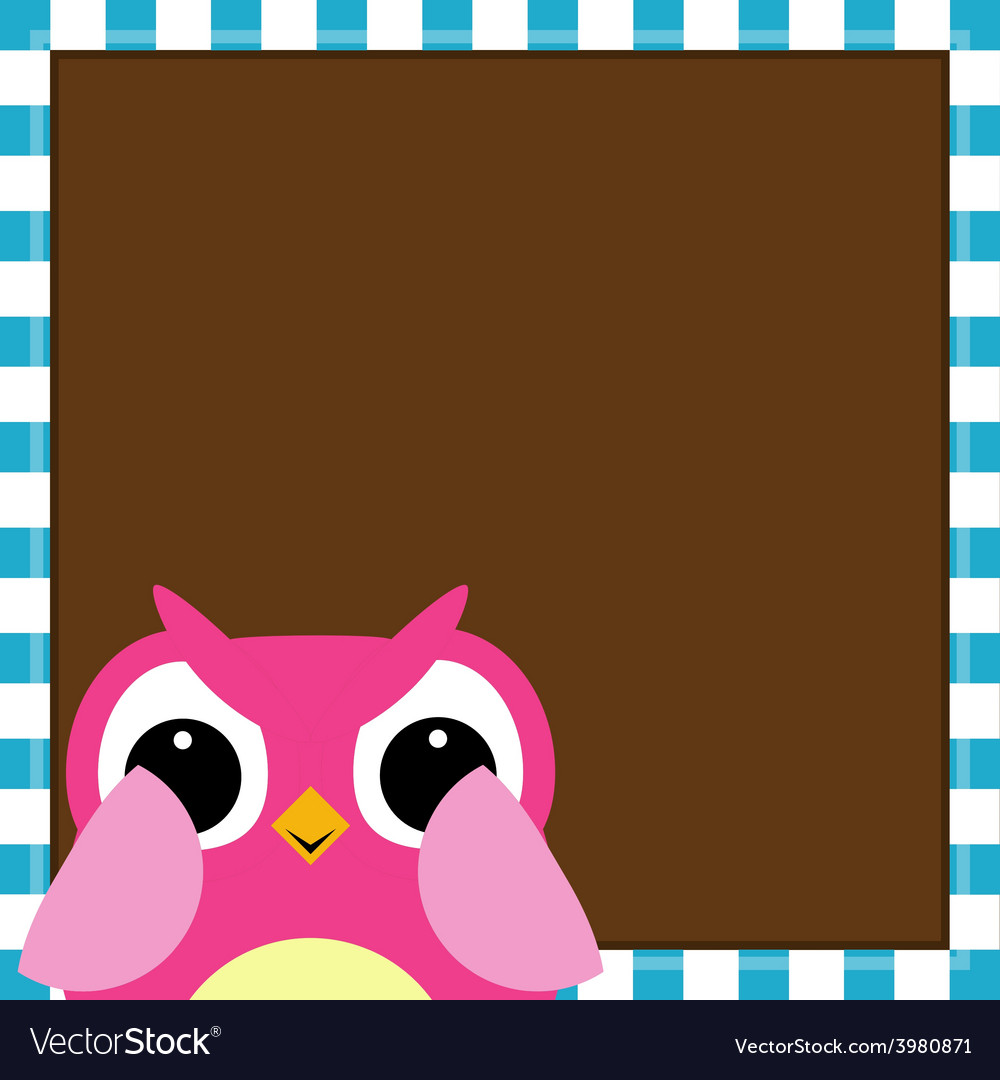 Cute owl baby girl arrival card