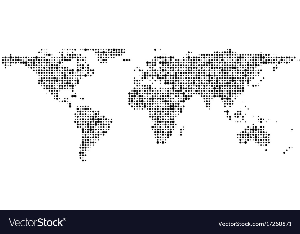 World map of black dots banner royalty free vector image world map of black dots banner vector image gumiabroncs Gallery