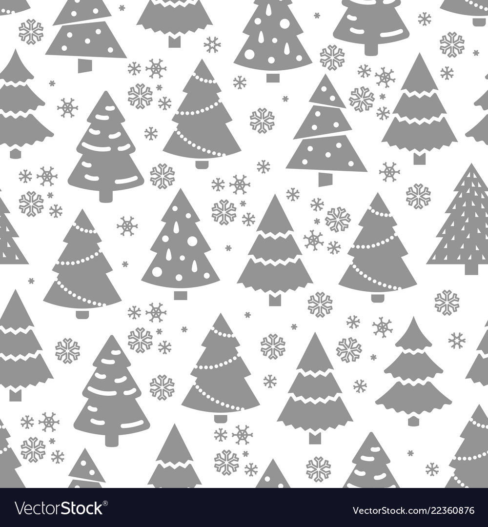 Abstract christmas tree seamless pattern winter