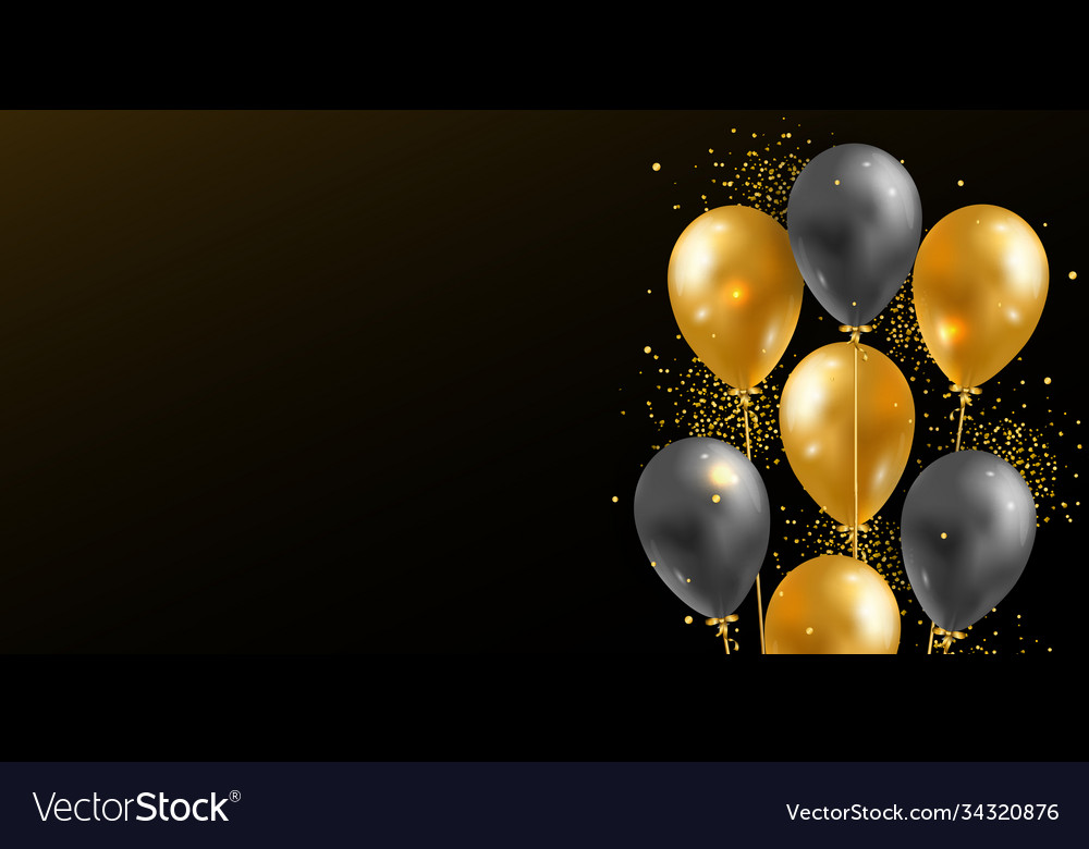 Background with 3d realistic glossy helium