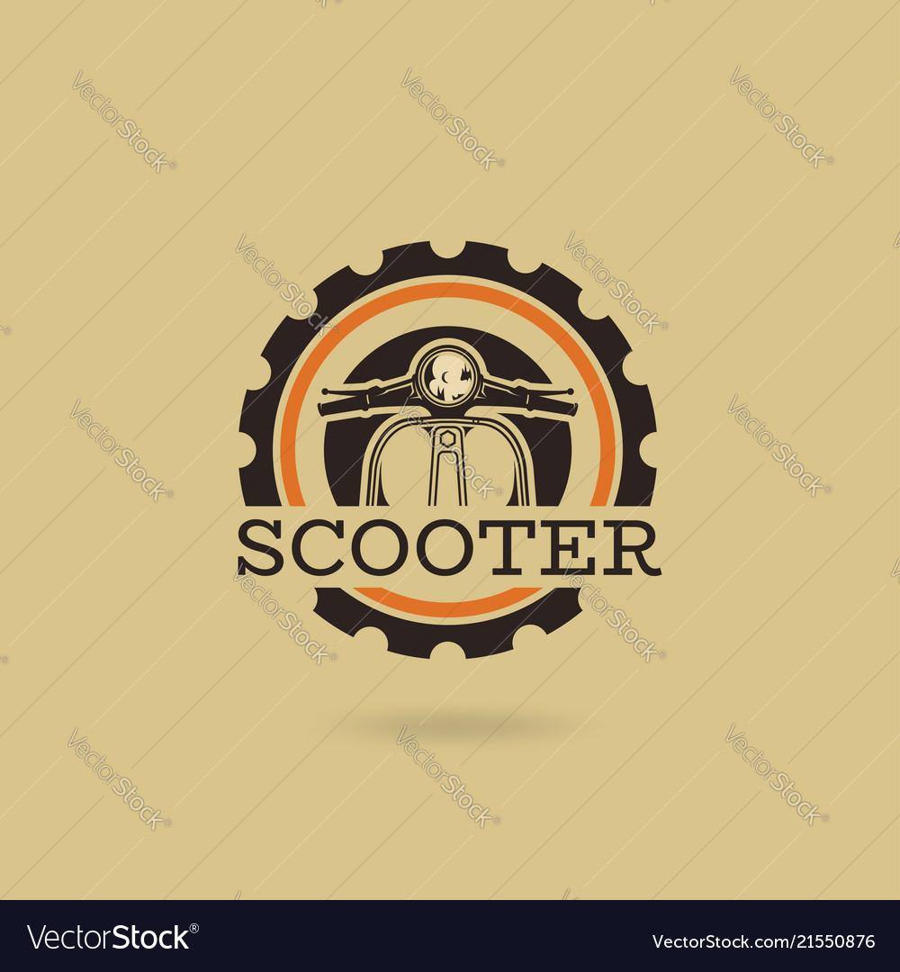 Classic scooter emblem