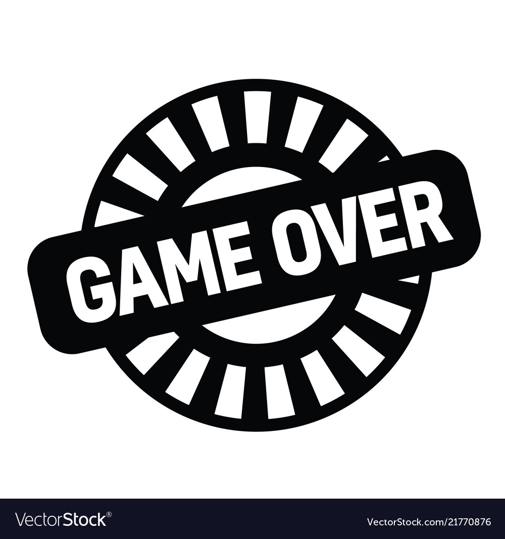 Game over rubber stamp vector image on VectorStock