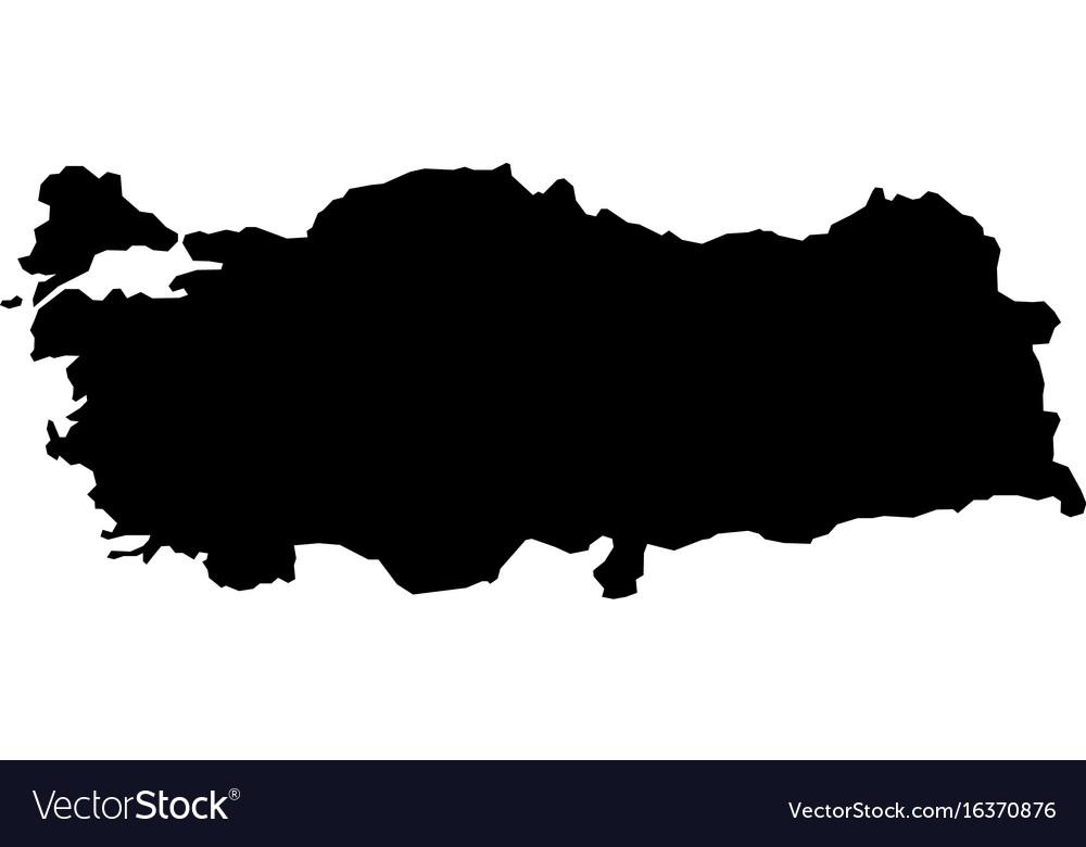 Map - turkey Royalty Free Vector Image - VectorStock