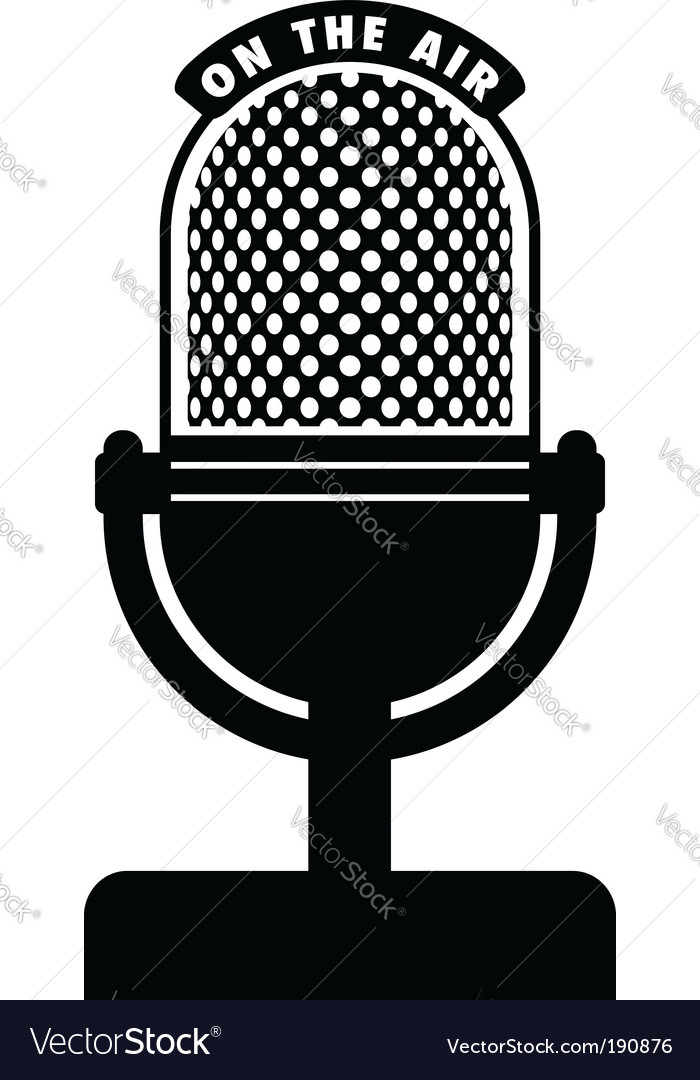 microphone royalty free vector image vectorstock rh vectorstock com microphone vector illustrator free download microphone vector art