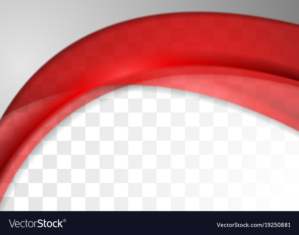 Abstract bright red transparent waves background