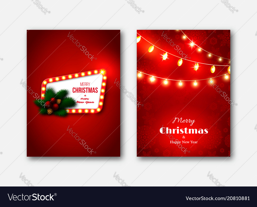 Christmas brochures templates decorative cards