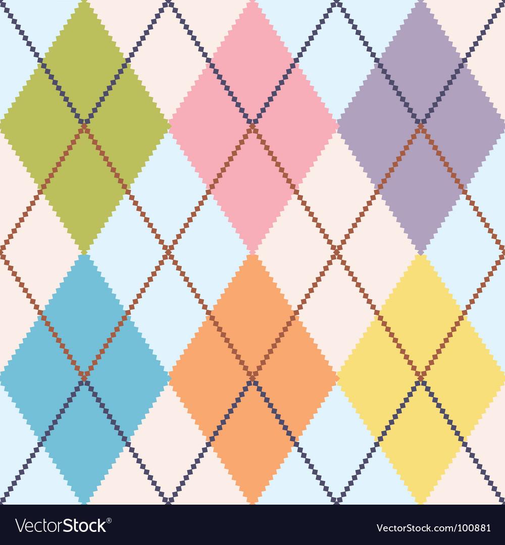 Colorful argyle vector image