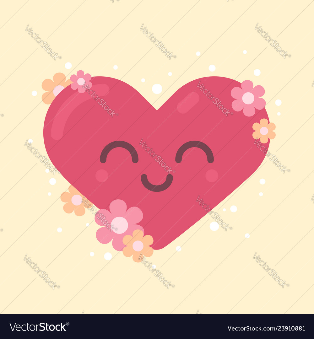 Cute heart character for valentines holiday