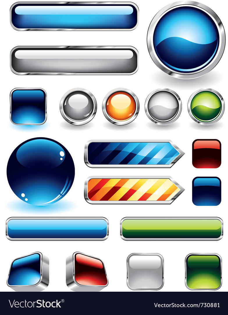 Glossy buttons set