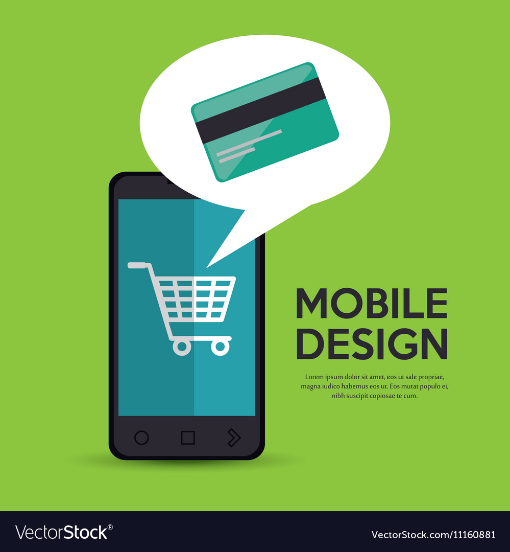 9226cfa7074 Mobile phone credit card shop online Royalty Free Vector