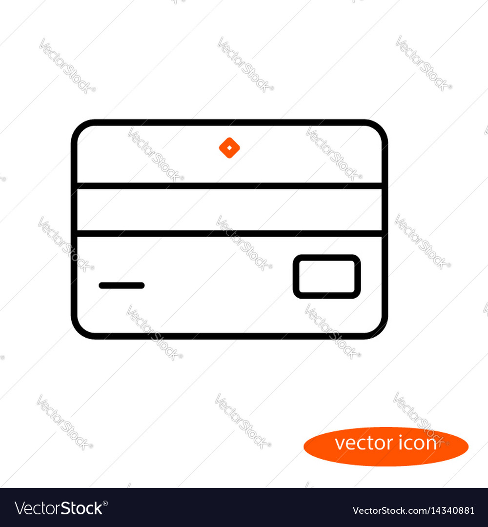 Simple linear image of bank card or
