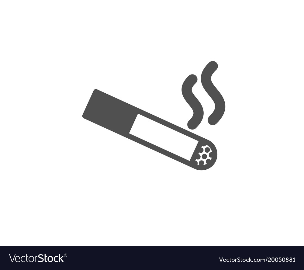 smoking area simple icon cigarette sign royalty free vector