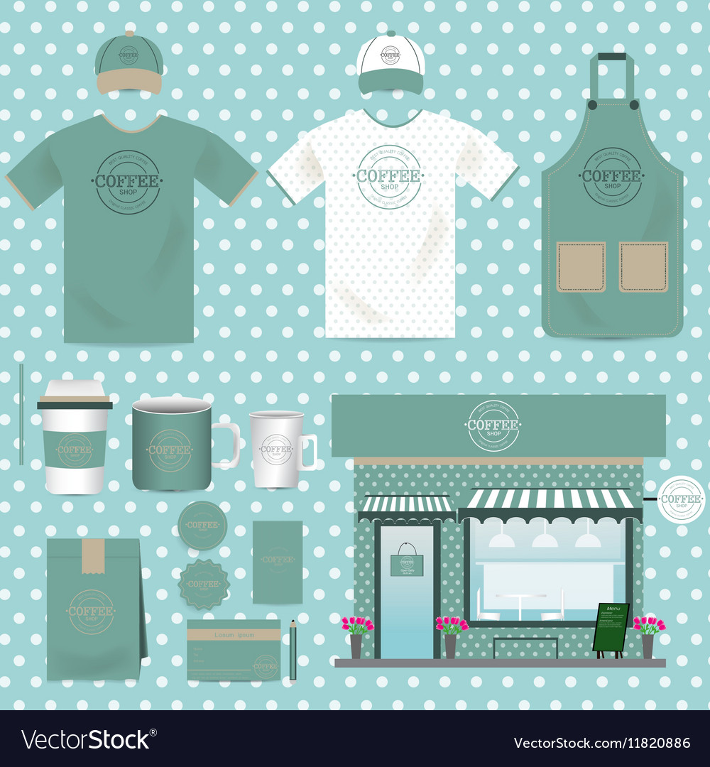 Cafe Shop Set Vintage Style can be used for Layout