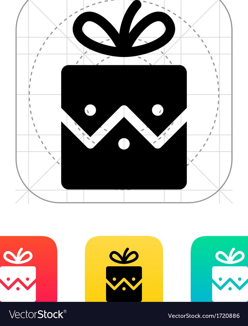 Christmas present icon vector image