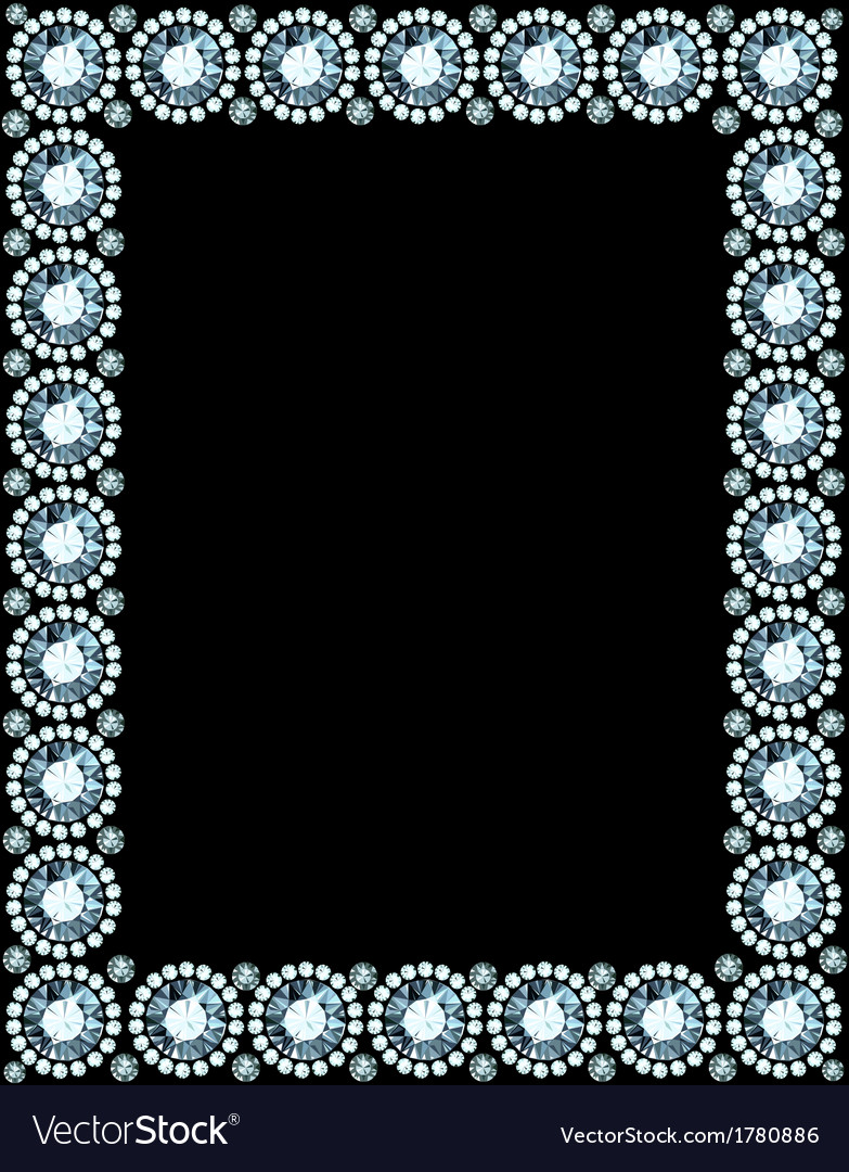 Diamond Frame Royalty Free Vector Image - VectorStock