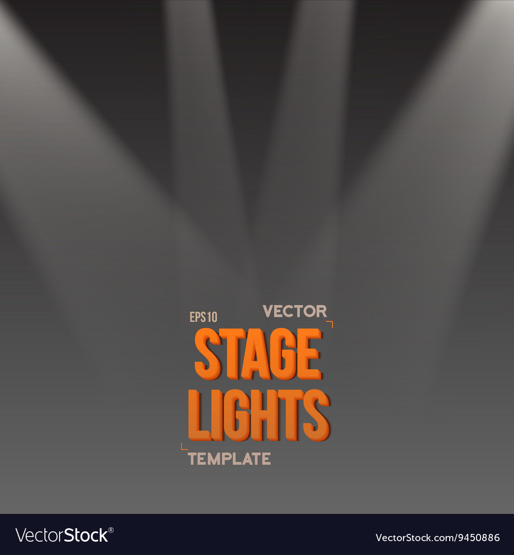 EPS10 Bright Stage Light Effect Stage