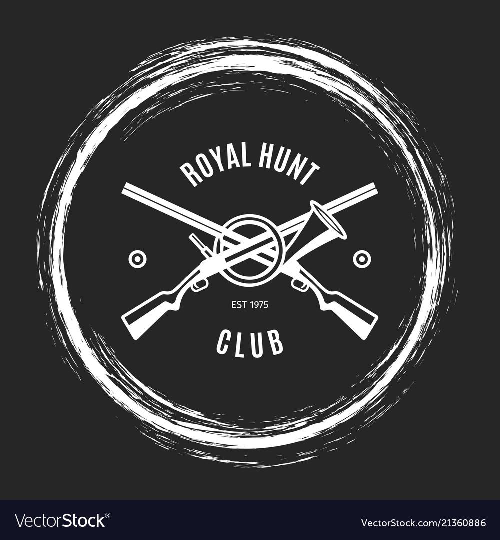 Hunting club grunge emblem