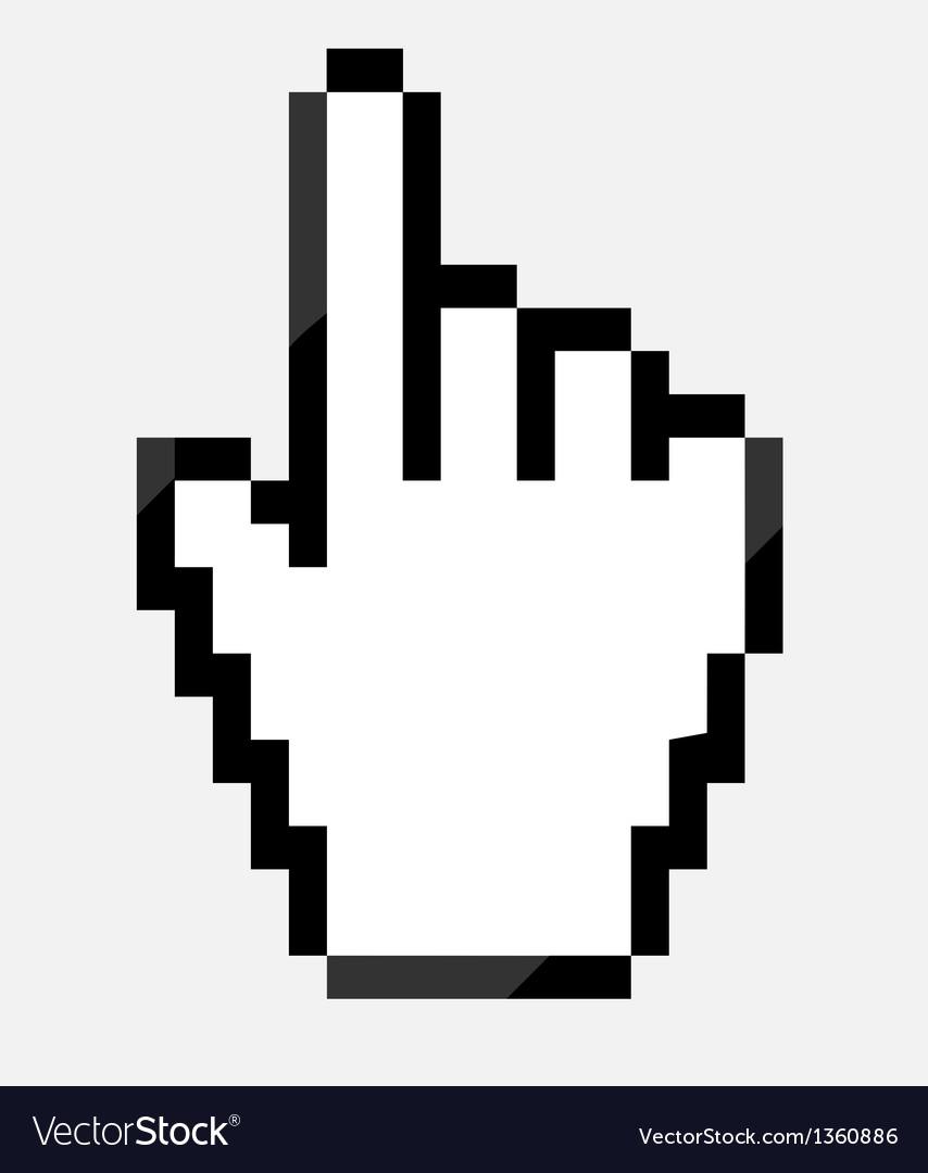mouse hand cursor royalty free vector image vectorstock rh vectorstock com mac mouse pointer vector mouse pointer vector icon