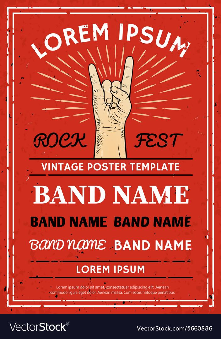 Vintage Rock festival poster flyer