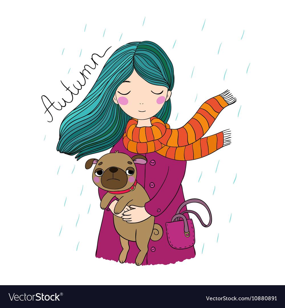 Картинки девушка с собачкой рисованные, одуванчиков смешные картинки