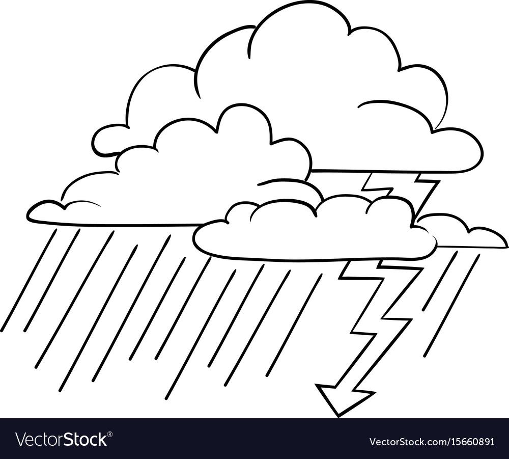 Cartoon Happy Storm Cloud Royalty Free Stock Photo - Image ...   Cartoon Storm