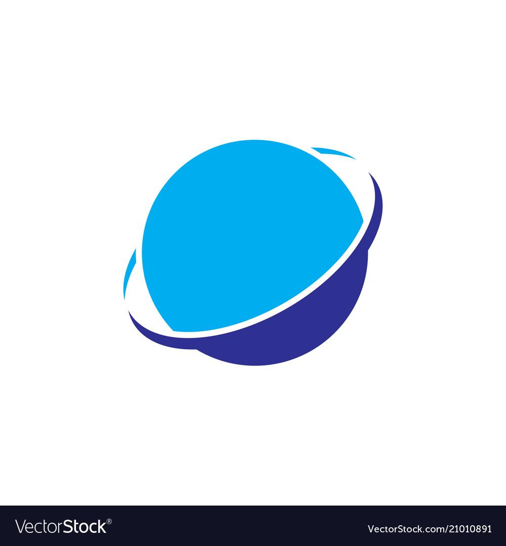 Circle planet orbit business logo