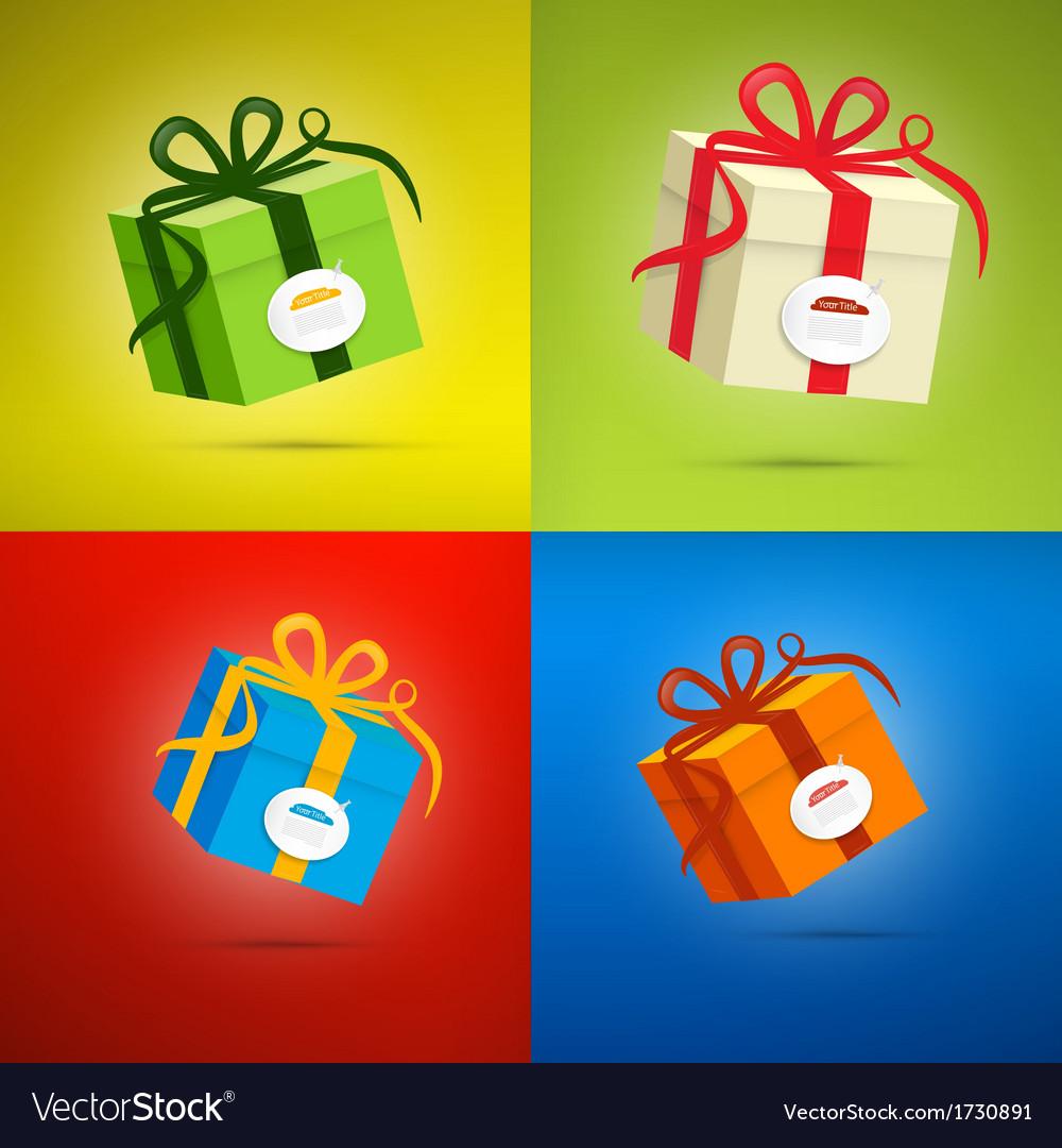 Colorful Present Box Gift Box Set