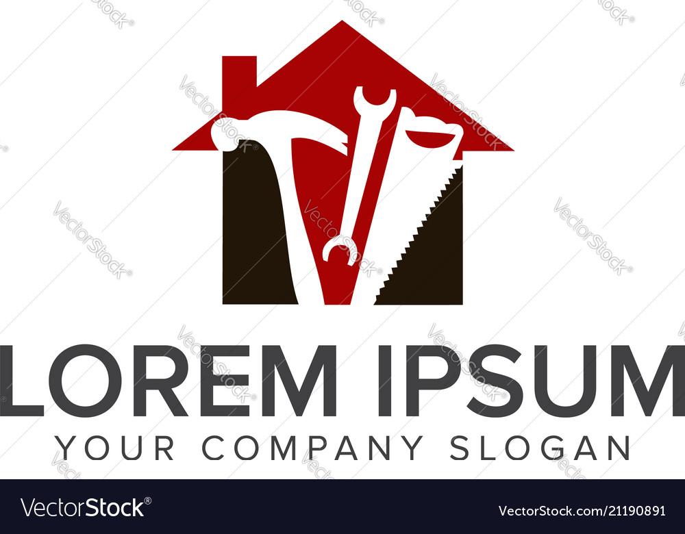 Construction tool logo design concept template