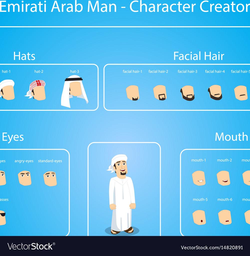 Emirati arab man - character creator