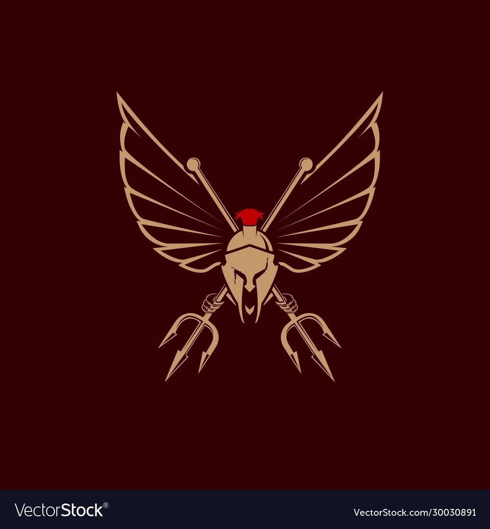 Spartan tridents emblem