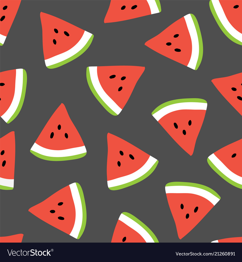 Summer seamless pattern with watermelons