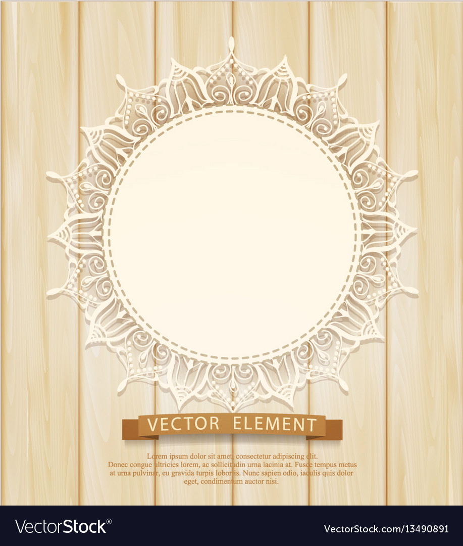 Vintage background with a circle lace