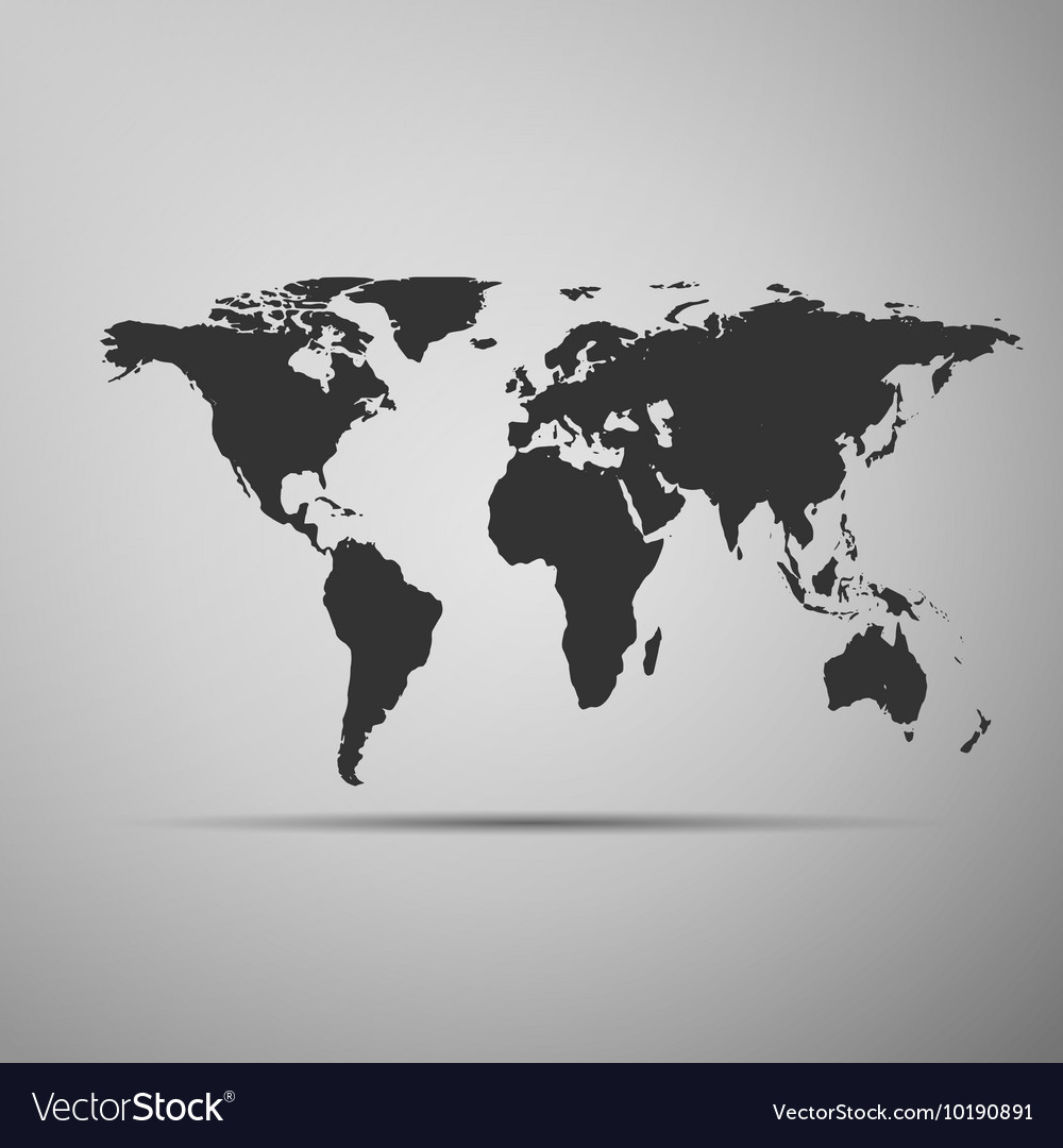 World map icon on grey background adobe royalty free vector world map icon on grey background adobe vector image gumiabroncs Image collections