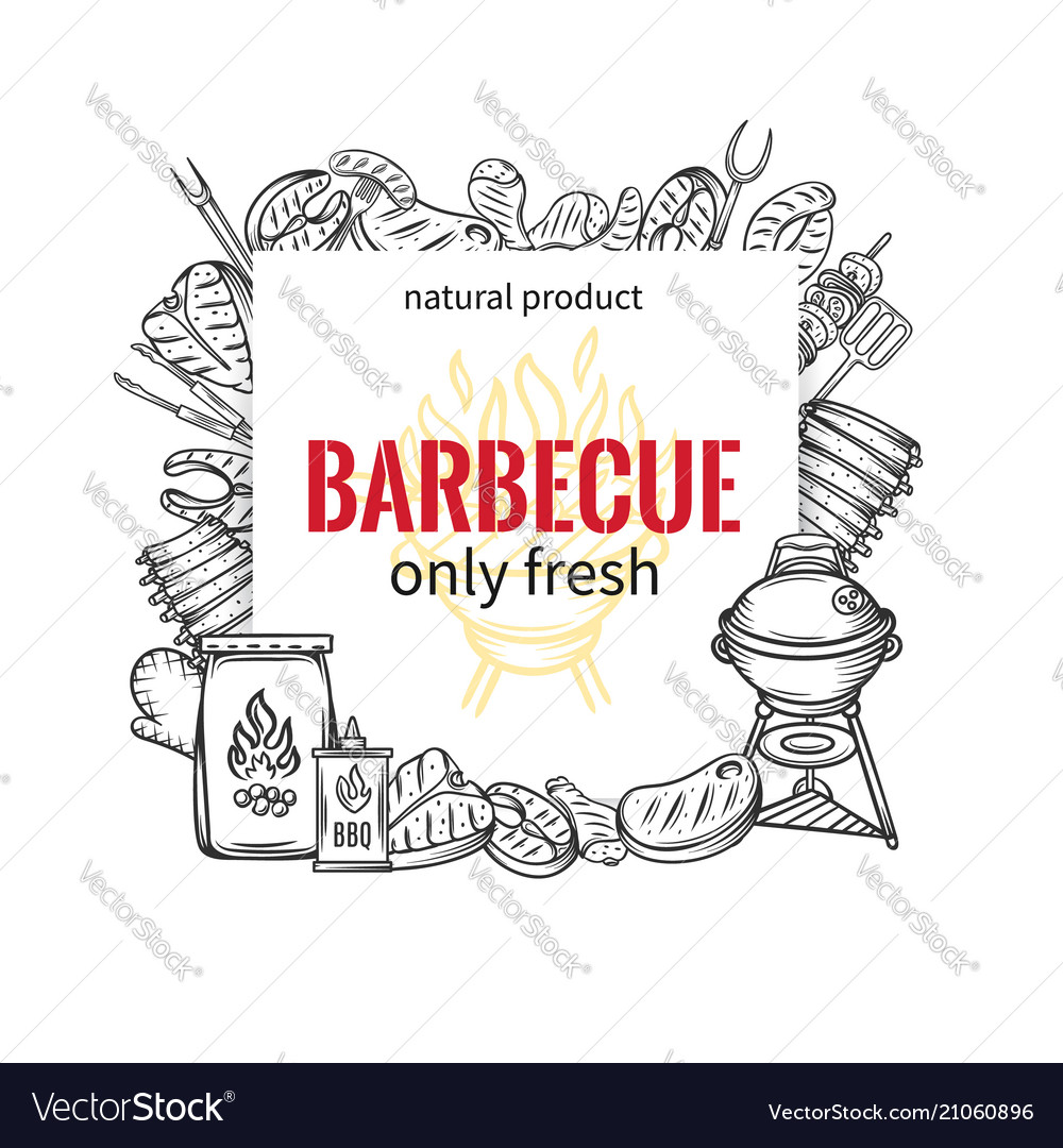 Barbecue square banners