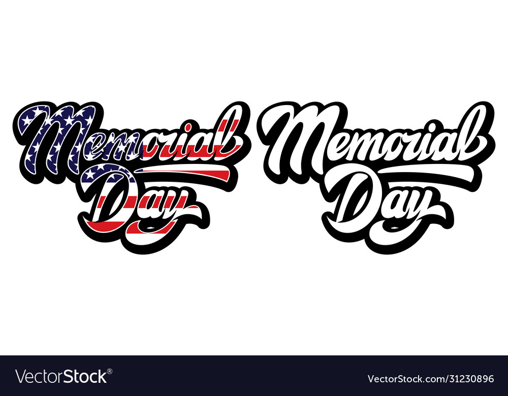 Calligraphic inscription to memorial day color