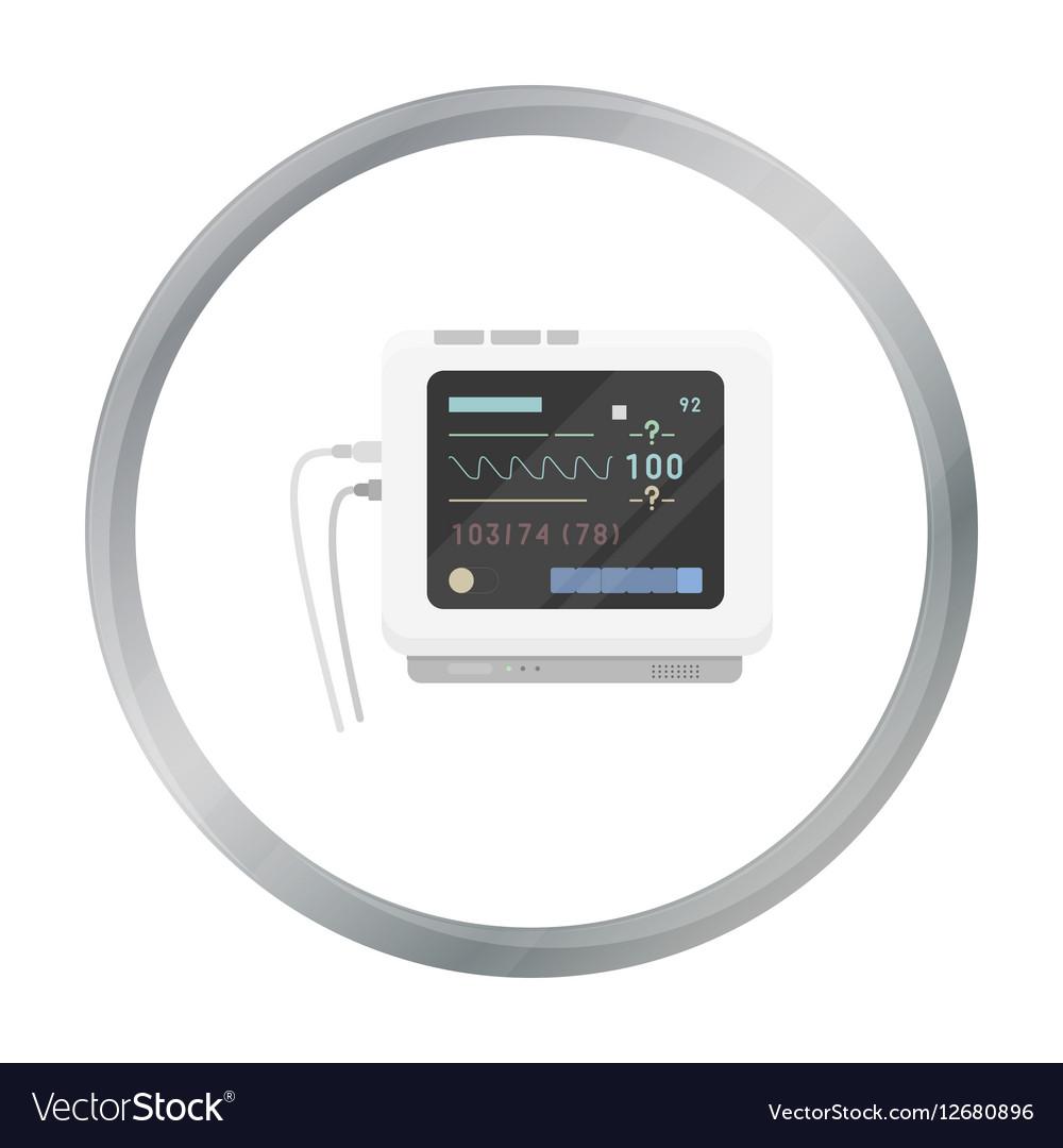 Ecg machine icon cartoon Single medicine icon