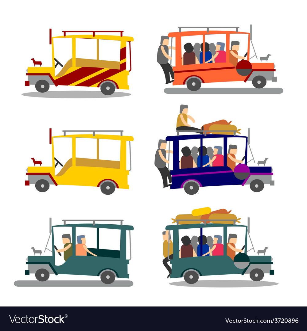 Philippine Jeepney Royalty Free Vector Image Vectorstock
