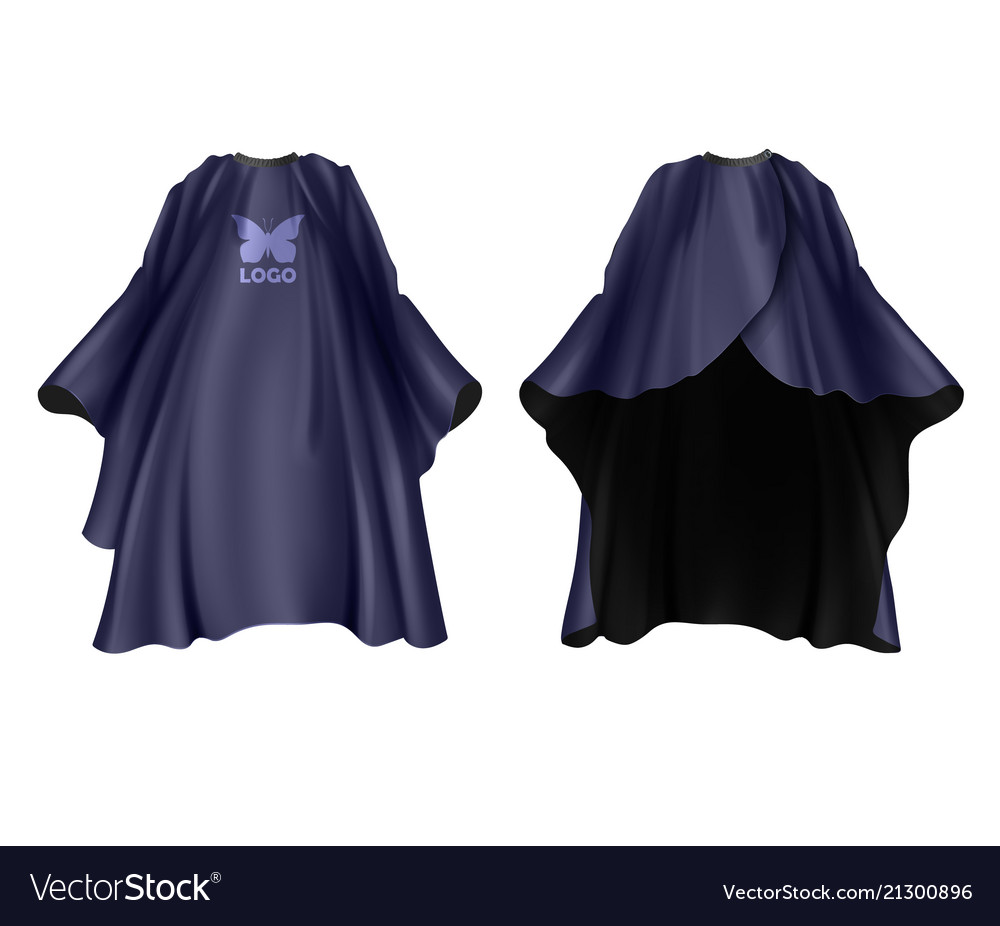 Realistic dark blue hairdresser apron