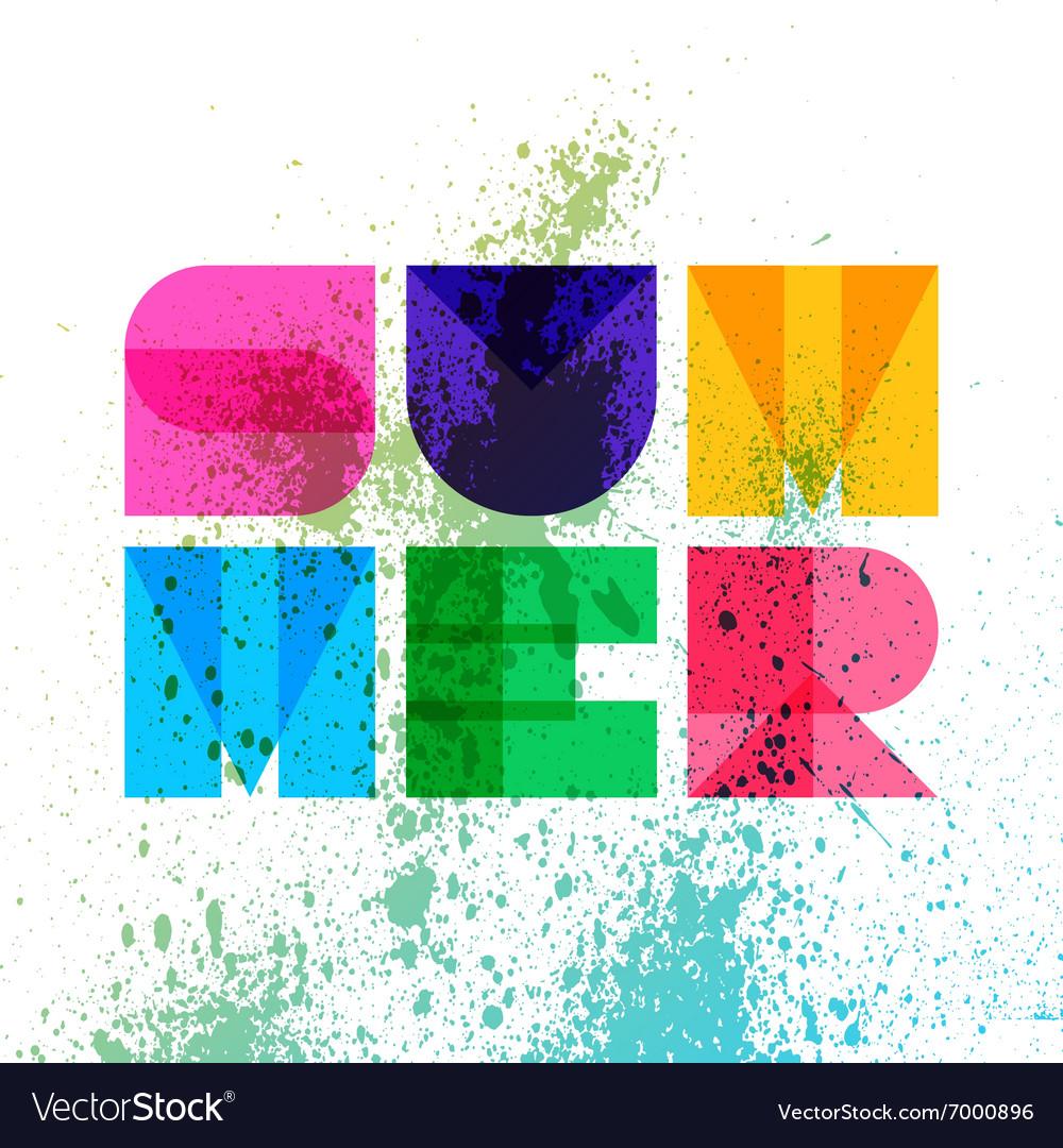 Summer typography t-shirt graphics