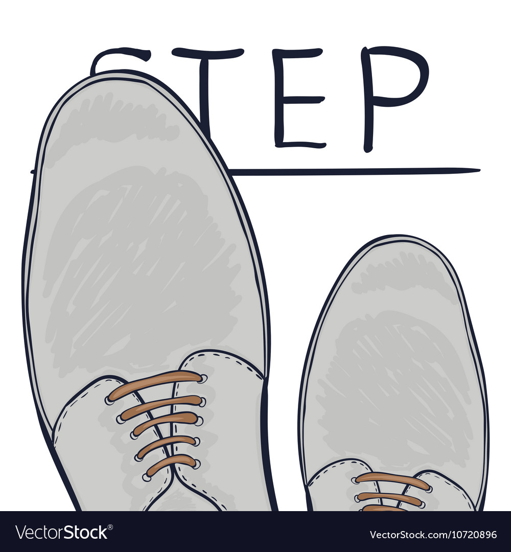 The business concept take the next step Feet on