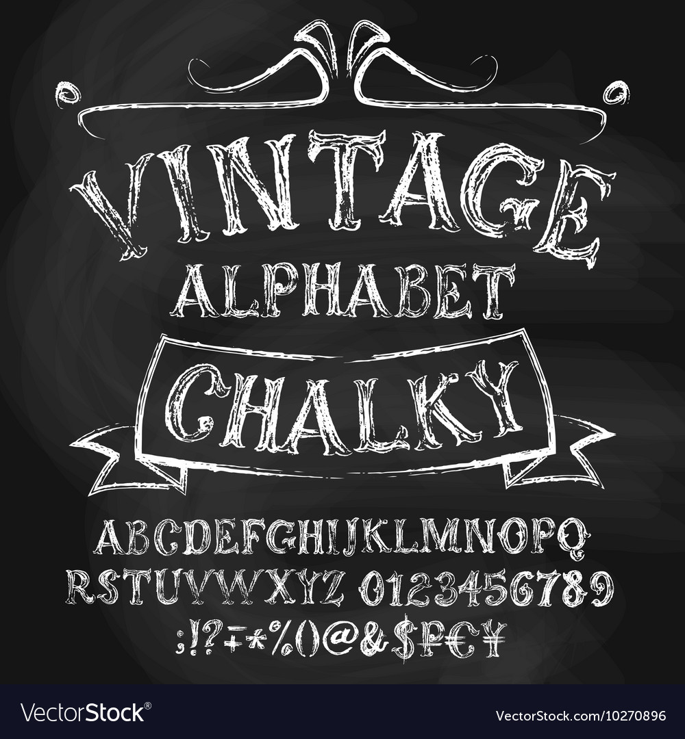 Vintage chalk alphabetical set