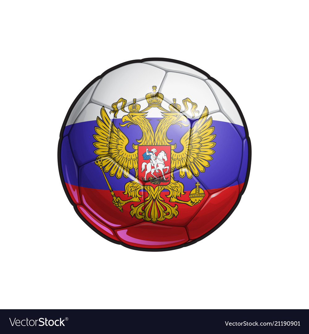 Russian eagle flag football - soccer ball