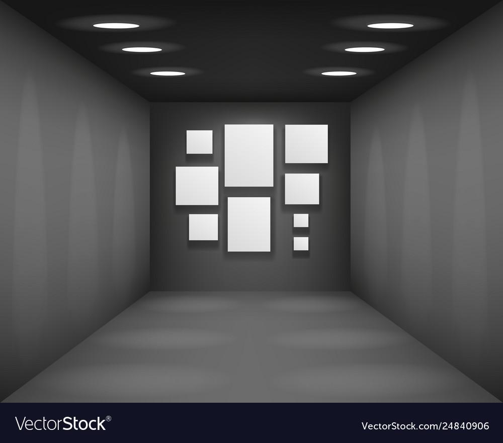 Black showroom art gallery empty museum room