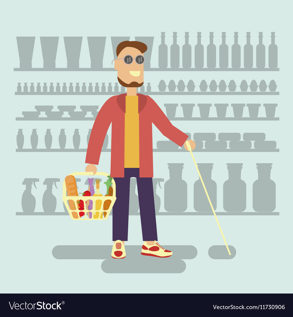 Blind person is a Customer vector image