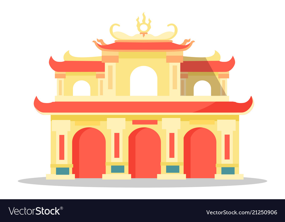 Chinese architectural festival building isolated